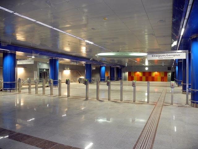 """Χαϊδάρι Σήμερα Πανέτοιμος, όμορφος, αλλά έρημος ο σταθμός του Μετρό """"Αγία Μαρίνα"""". Αυτοψία στο σύγχρονο γεφύρι της Άρτας 1"""