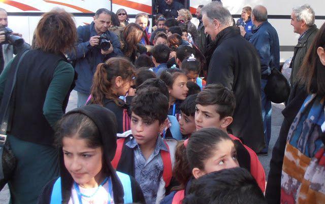 Χαϊδάρι Σήμερα Θερμή υποδοχή στα προσφυγόπουλα. Σήμερα ξεκίνησαν τα μαθήματα στο Χαϊδάρι 1