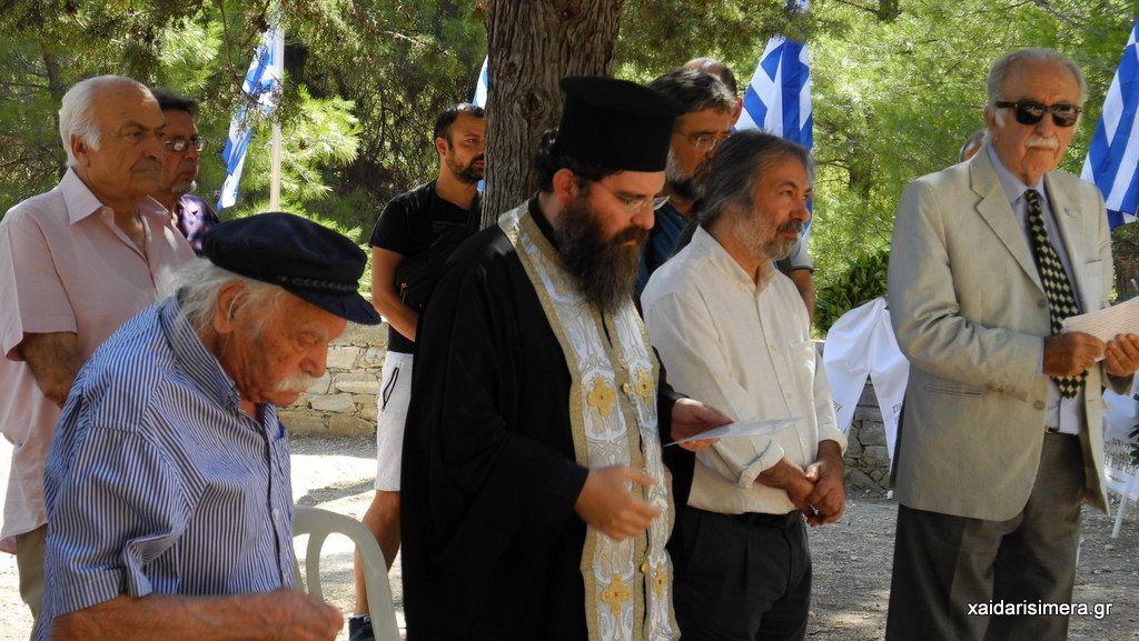 Χαϊδάρι Σήμερα Μάθημα Ελλάδας και εθνικής ενότητας από τον Μανώλη Γλέζο σήμερα στο Χαϊδάρι 1