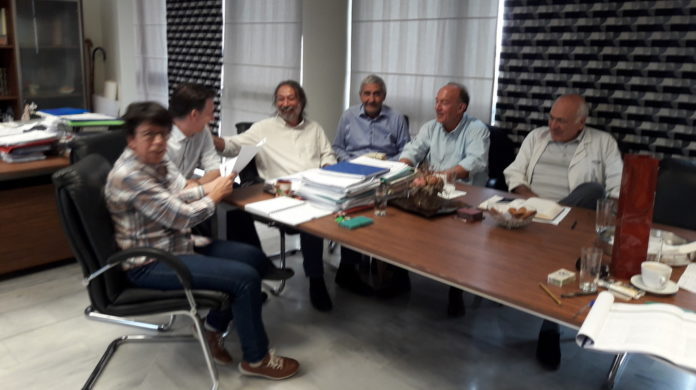 Χαϊδάρι Σήμερα Επίσκεψη του αντιπεριφερειάρχη Σπύρου Τζόκα στο Δημαρχείο Χαϊδαρίου για επισκόπηση των έργων στην πόλη