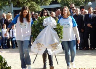 """Χαϊδάρι Σήμερα Τα παιδιά της """"Γέφυρας Ζωής"""" έκλεψαν τις εντυπώσεις στην παρέλαση στο Χαϊδάρι. 5"""